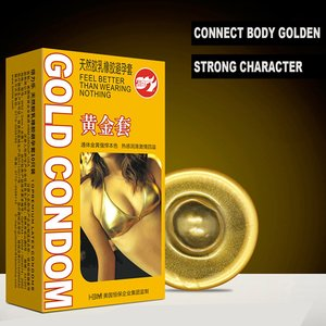 10pcs Gold / Black Durable Condoms Ultra Smooth Natural Latex Condom Time Delay Penis Sleeve Men Contraception Safe Sex Toys