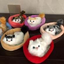 Детские плюшевые игрушки с изображением кота спящего в гнезде