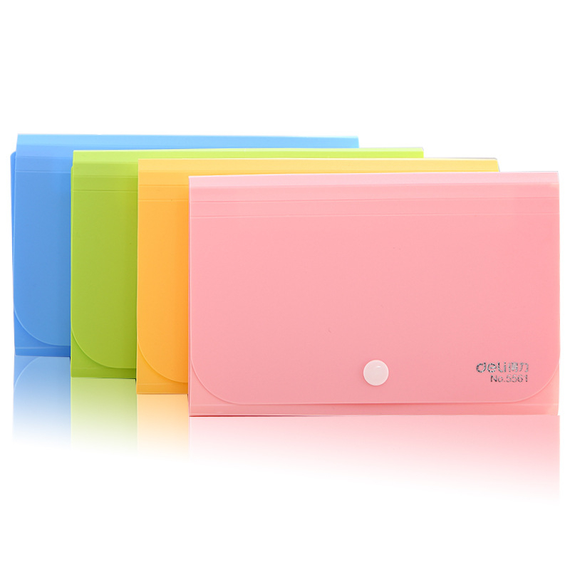 Plastic Candy Color A6 File Folder Small Document Bags Expanding Wallet Bill Folders For Documents Fichario Escolar Office