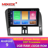 New product!2GB+32GB DSP android 9 Car gps navigation multimedia player for Volvo XC60 2010 2011 2012 with wifi BT USB radio