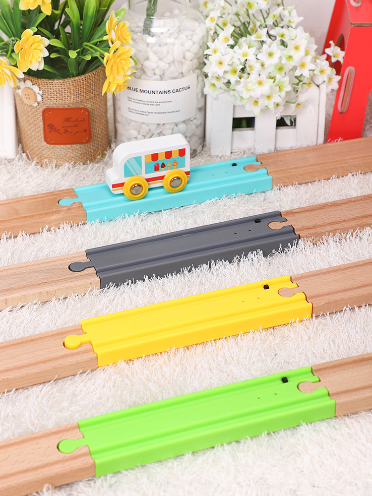 Vocal Track Trap Touch Compatible Wooden Train Track All Brands Trains Toy Simulation Train Sound Track Accessories Railway