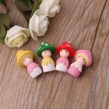 Грибная кукла Фигурка орнамент Миниатюрный Кукольный дом бонсай Сказочный садовый декор 72XF