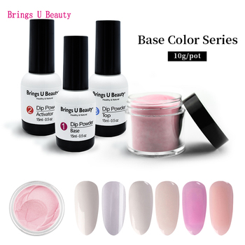 Very Fine 10g/Box Base Colors French Nail Design Dipping Powder Clear White No Lamp Cure Nails Dip Gel Natural Dry