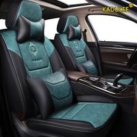 KADULEE leather car seat covers For ford focus mk1 focus 2 3 mondeo mk4 fiesta mk7 figo ranger edge fusion 2015 kuga accessori