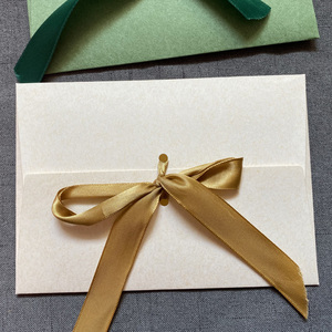 Image 5 - 40 יח\חבילה חדש משי סרט DIY פסטיבל מתנה מעטפת מכתב ניירות פרפר קשר חתונה הזמנה מכתב צעיף, מסכת אריזה
