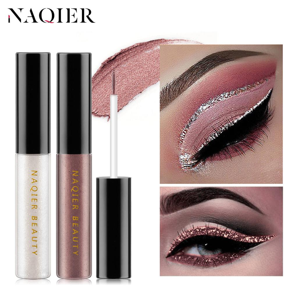6 Colors Makeup Liquid Glitter Eyeshadow Eyeliner Silver Rose Gold Color Eyeliner Eyes Full Professional Makeup For Eye Cosmetic