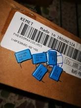 20PCS RIFA PHE450 1nF/630V MKP P10MM 102/630V áudio Capacitor de filme azul 450 102 1000PF 1NF 630VDC 0.001UF