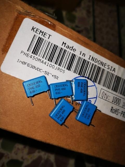 20PCS RIFA PHE450 1nF/630V P10MM MKP 102/630V audio blau film Kondensator 450 102 1000PF 1NF 630VDC 0,001 UF
