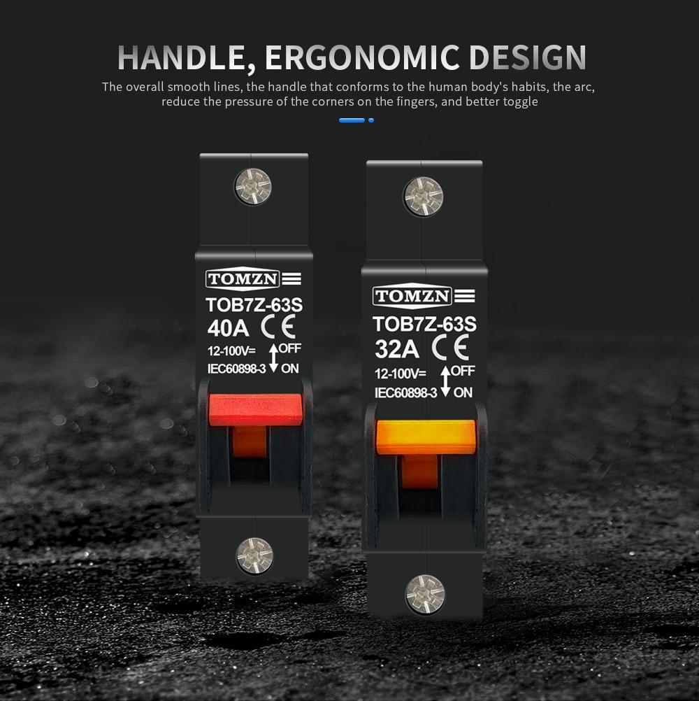 H914ccfc3044f4659b57a0935d2bce686m - hydrautic magnetic type DC MCB circuit breaker 12V to 100V 32A 40A TOMZN TOB7Z-63S