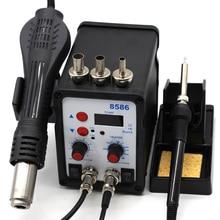 220V 580W Soldeerstation 8586 2 In 1 Smd Rework Station Hot Air Blower Heat Gun Hot Air gun + Elektrische Soldeerbout