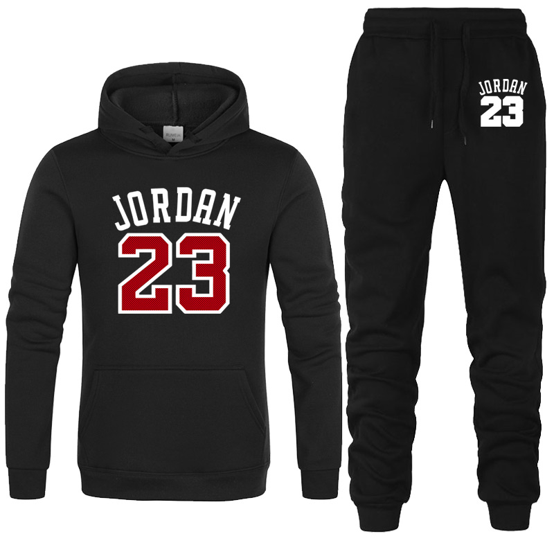 2020 New Brand JORDAN 23 Print Sportswear+Pants Sete Men Hoodies Pullover Hip Hop Mens Tracksuit Sweatshirts Clothing 2-piece