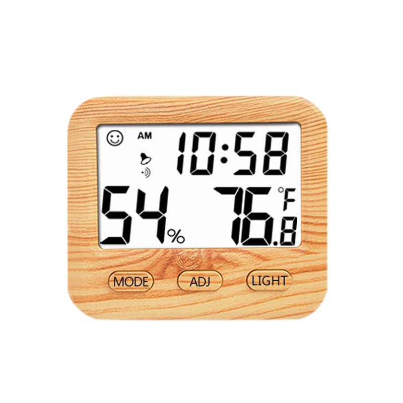 Hot Digital Wireless Thermometer With Hygrometer Temperature Gauge Calendar Alarm Indoor Multifunctional Lcd Display And Backlig