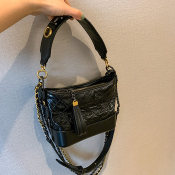 2020 New Fashion Casual Wides Strap Chain Shoulder Messenger Bags High Quality Panelled Diamond Lattice Women Purse and Handbags