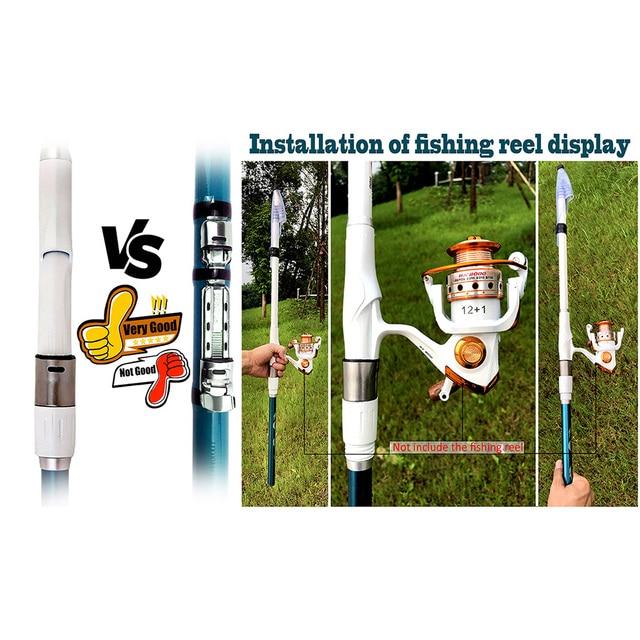 GHOTDA Portable Rock 3.6m 4.5m 5.4m 6.3m 7.2m Carp rod Telescopic Sea Fishing Rod Spinning rod carbon fiber Ultralight hard