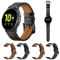 Echtes Leder Strap Für Getriebe Sport/S2 S3 20mm 22mm Band Armband für Samsung Galaxy Uhr Aktive 2 3 41/45mm 42/46mm Armband