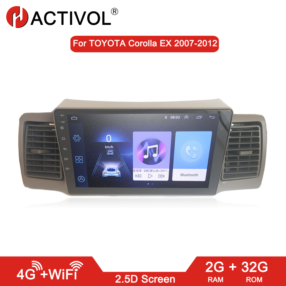 HACTIVOL 2G+32G Android 8.1 Car radio for Toyota <font><b>Corolla</b></font> <font><b>E120</b></font> <font><b>Corolla</b></font> EX BYD F3 car dvd player gps car accessories 4G internet image