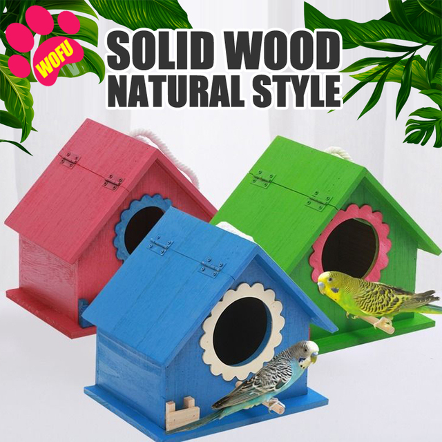 """""""We Love Our Pets"""" Wooden Outdoor Bird Cottage   1"""