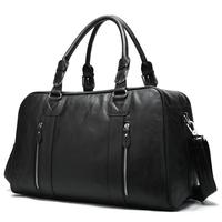 Men's Genuine Cowhide Leather Travel Duffle Overnight Tote Large Capacity Luggage Bag High Quality Genuine Travel Shoulder Bag