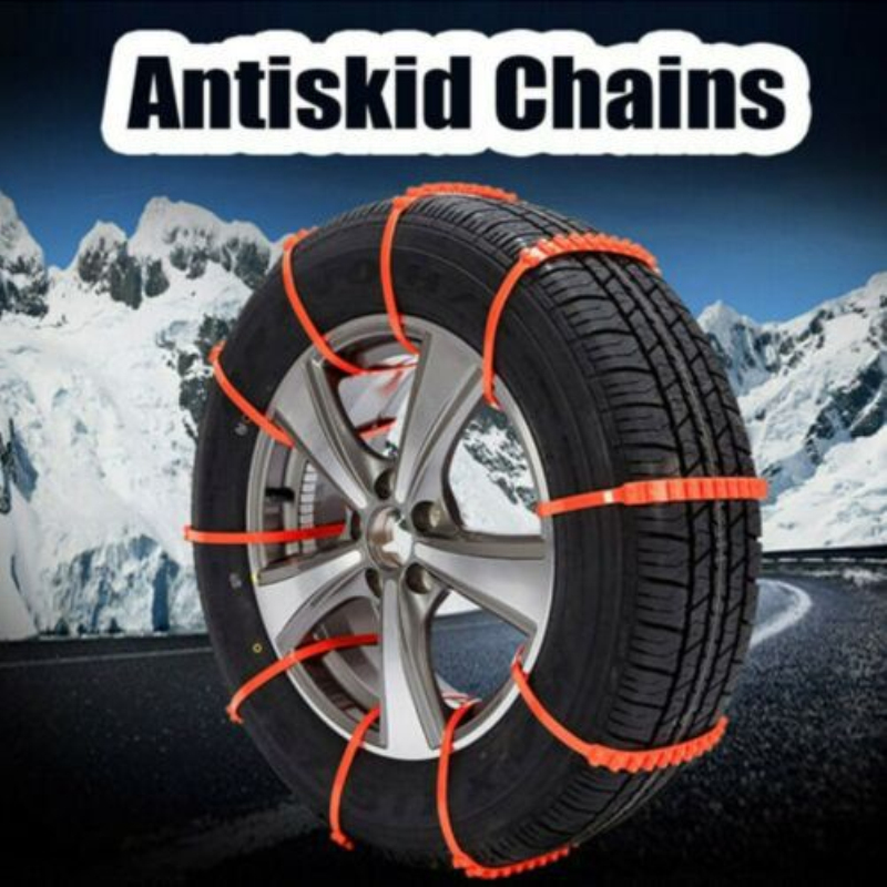 10pcs Anti-skid Chains For Snow Mud Car Truck Wheel Non-slip Cable Tie Snow Tire Chain Durable Car-Styling Snow Chains