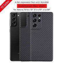 Etui na telefon z włókna węglowego ytf-carbon do Samsung Galaxy S21 Ultra ultra-cienki pokrowiec na biznes Galaxy S21 puls shell