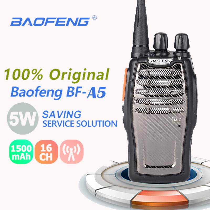 New Baofeng BF-A5 Single Band UHF Walkie Talkie Max  5W 16CH Ricetrasmittenti Per Radioamatori Tutte Le Marche Radio Comunicador