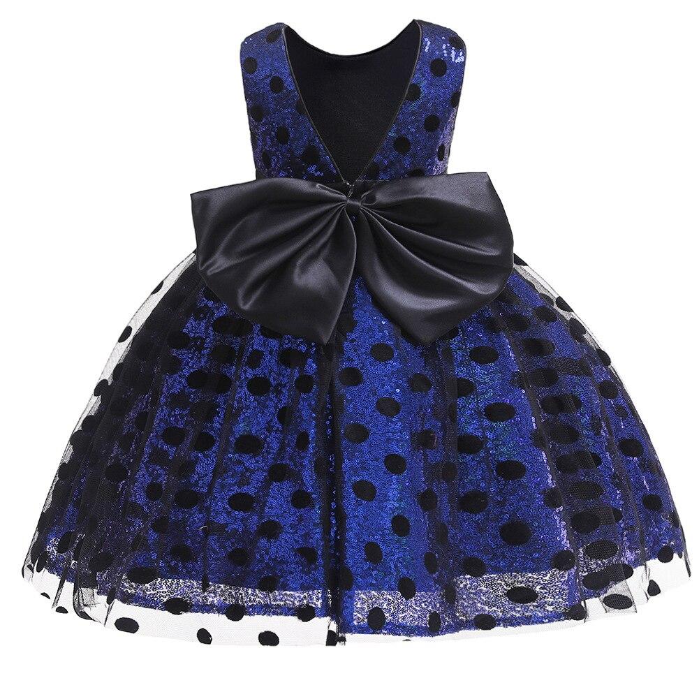 2019 Summer New Childrenswear Women's Sleeveless Short Sequin Princess Dress Flower Boys/Flower Girls Dress Infants Polka Dot Dr
