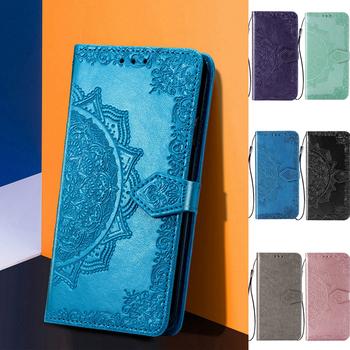 Na dla LGK92 skórzane etui Na LG K92 5G K22 LGK22 K42 K61 K51S K41S K52 K71 K40 K20 K30 2019 K50S K50 K40S K61S etui Na telefon z klapką tanie i dobre opinie KL-Boutiques CN (pochodzenie) Etui z portfelem 3D Mandala Embossed Flip Leather Wallet Stand Phone Case Zwykły W stylu rysunkowym