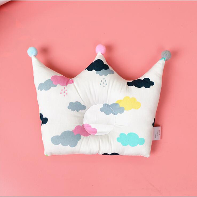 Baby Sleeping Pillows Cotton Girl Boy Cushion With Plush Ball Breast Feeding Pillow Cute Soft