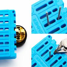 Narzędzie do przycinania cewki do RDA DIY drut oporowy cewka linijka trymer budynek elektroniczny papieros akcesoria vape tanie tanio SIRING VAPE Zestaw narzędzi CN (pochodzenie) Coil Trimming Tool Z tworzywa sztucznego Heating Wire Polycarbonate(PC) Gray Blue