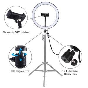 Image 2 - Fotografia Cadiso możliwość przyciemniania RGB LED Selfie Studio oświetlenie do fotografii lampa pierścieniowa do makijażu telefonu do zdjęć wideo YouTube