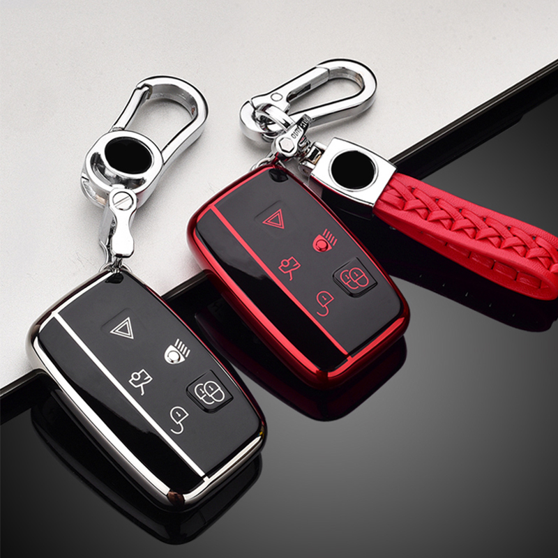 Key cover new TPU For Land Rover Range Rover Sport A9 Discovery 2 3 4 Sport For Jaguar XF A8 A9 X8 XE XF XFL keyring keychain