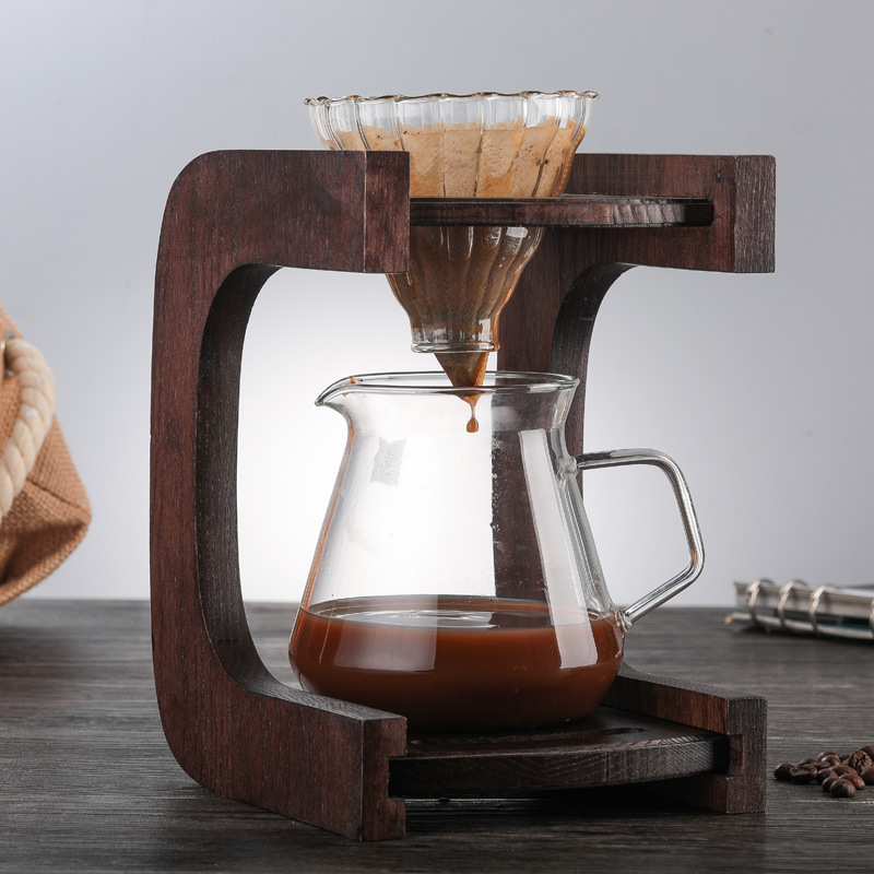Ecocoffee V60 Pour Over Glass Range Coffee Server 400/600ml Carafe Drip Coffee Pot Coffee Kettle Brewer Barista Percolator Clear