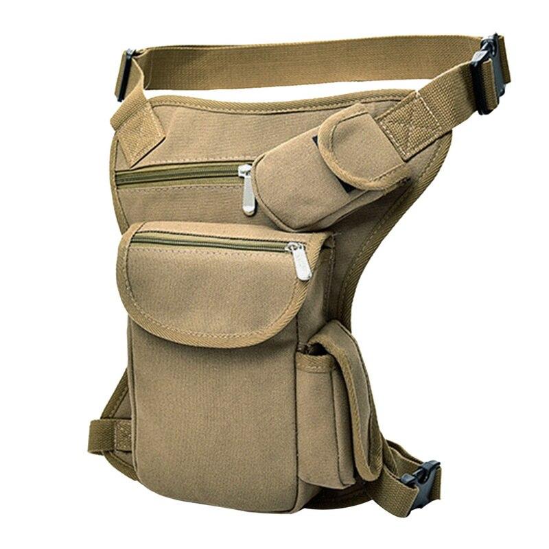 2020Men Military Tactical Travel Riding Motorcycle Bag Portable Waist Messenger Bag Casual Canvas Drop Thigh Leg Multi- Pouch