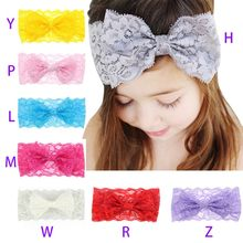 Baby Cute Girls Boys Bowknot Design Lace Headband Headwear Apparel Photography Prop Party Gift Baby Girl Hair Accessories(China)