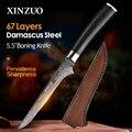 XINZUO 5 5 дюймов нож для обвалки филе 67 слоев Дамасская Нержавеющая сталь филе ножи китайский кухонный нож с ручкой g10