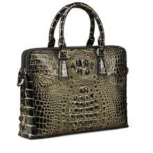 yinshang крокодил мужчины сумки бизнес мужчины портфель мужчины сумки крокодил кости кожи кисти золото одно плечо Crossbody мешок