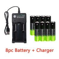 Batteria ricaricabile GTF 3.7V 18650 9900mAh 2/4/8pcs batteria 2 slot caricatore USB 3.7V 18650