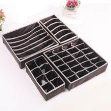 4 pièces boîtes de rangement sous-vêtements diviseur tiroir Lidded placard sous-vêtements organisateur tiroir par pour sous-vêtements Bras chaussettes cravates
