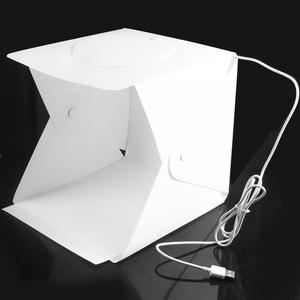 Photo Studio Light Mini Tent Kit with LED Ring Light 4 Backdrops Professional Photography Supplies for Photography