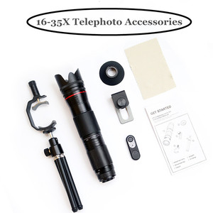 Image 5 - 4K HD 3 Section Adjustable 16X   35X Zoom Telephoto Optical Phone Camera Lens For Smartphones Lente Monocular Telescope Lenses