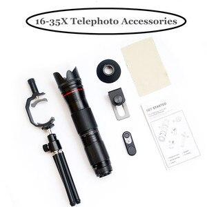 Image 5 - 4K HD 3 Sezione Regolabile 16X   35X Zoom Ottico Teleobiettivo Obiettivo della Fotocamera Del Telefono Per Smartphone Lente Monoculare telescopio Lenti