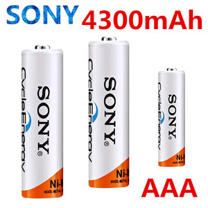 SONY 100%Original 4300mAh AAA battery For Flashlight Toy Camera PreCharged high capacity Rechargeable Batteries