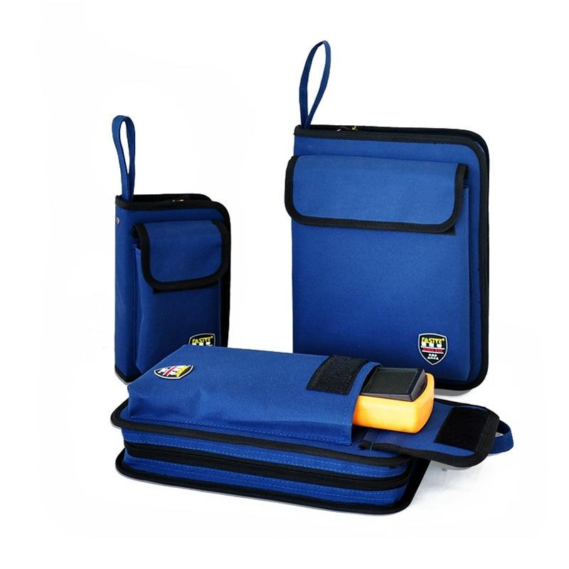 Професионална електрическа чанта с инструменти Комплект чанти за инструменти с твърда чиния Комплект многофункционална чанта за комплект