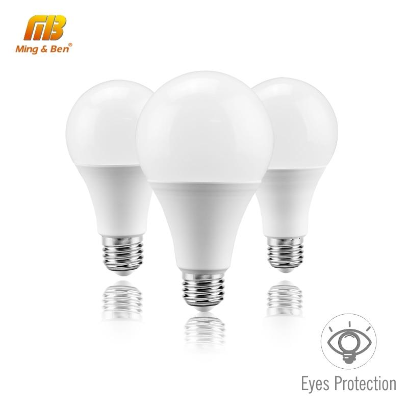LED Light Bulb No Flicker E27 220V 240V 3W 6W 9W 12W 15W 18W 22W Cold White Warm White LED Bulb For Living Room Bedroom Kitchen