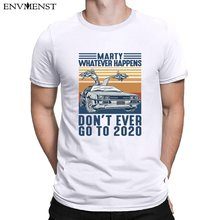 Envmenst 100% coton t-shirt marty quoi qu'il arrive ne va jamais à 2020 manches courtes homme blanc cassé hommes vêtements hauts t-shirts