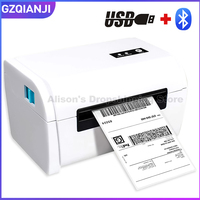 USB Bluetooth Thermal Label Barcode Printer 110mm 4 inch Label Barcode Printer USB Port Work with paypal Etsy Ebay USPS Labels
