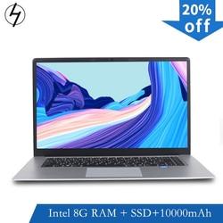 LHMZNIY 15,6 zoll Student Laptop 8GB RAM 256GB 512GB SSD Notebook intel J3455 Quad Core Ultrabook Mit webcam Bluetooth WiFi