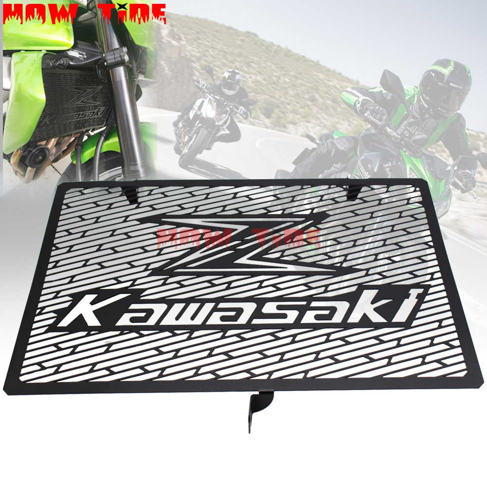 <font><b>2016</b></font> New Stainless Steel Motorcycle Radiator Grille Guard Cover Protector For Kawasaki Z750 Z750 ZR800 Z1000 <font><b>Z1000SX</b></font> image