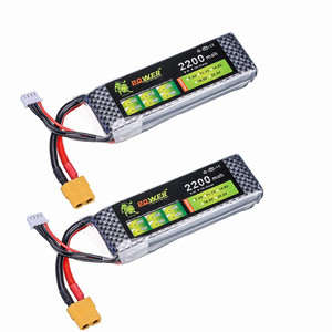 2PCS/lot Lion Power Lipo Battery 11.1V 2200 mAh 25C MAX 50C 3S Lipo for Helicopter Quadcopter RC Car Airplane T-REX 450 Part