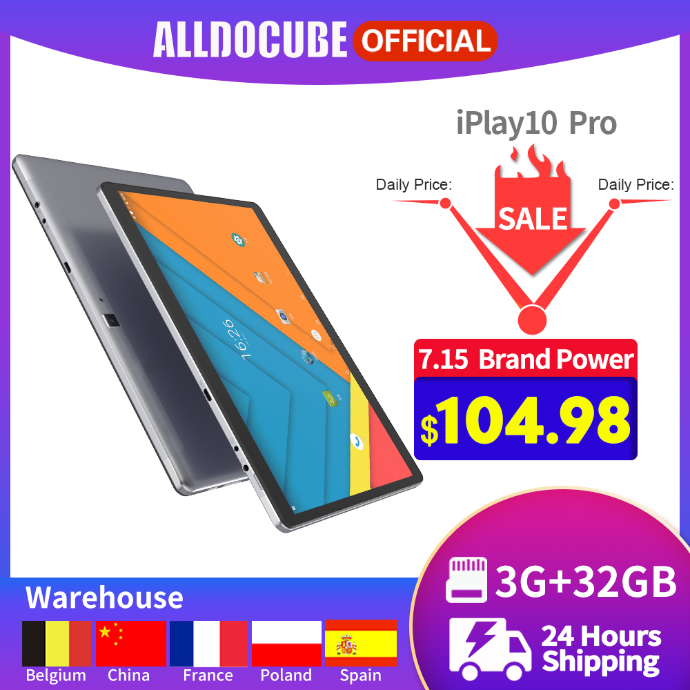 Alldocube iPlay10 Pro Tablet 10.1 Inch IPS Screen MT8163 Quad Core 3GB RAM 32GB ROM Android 9.0 Wifi BT4.0 Kids Tablet image